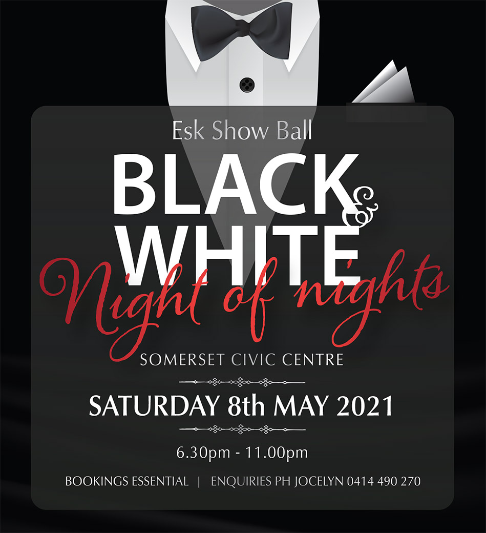Esk Show Ball - Black and White Night of Nights